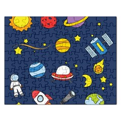 Space Background Design Rectangular Jigsaw Puzzl by Simbadda