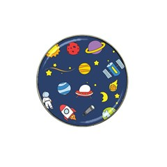 Space Background Design Hat Clip Ball Marker by Simbadda