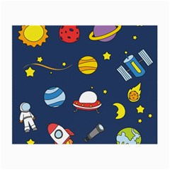 Space Background Design Small Glasses Cloth by Simbadda