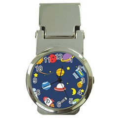 Space Background Design Money Clip Watches by Simbadda
