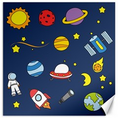 Space Background Design Canvas 16  X 16   by Simbadda