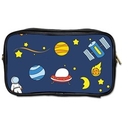 Space Background Design Toiletries Bags by Simbadda