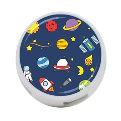 Space Background Design 4 Port Usb Hub (two Sides)  by Simbadda