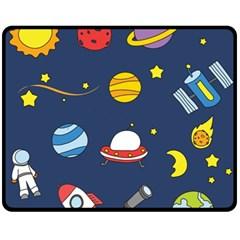 Space Background Design Fleece Blanket (medium)  by Simbadda