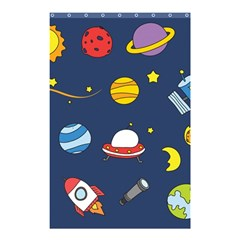Space Background Design Shower Curtain 48  X 72  (small)  by Simbadda