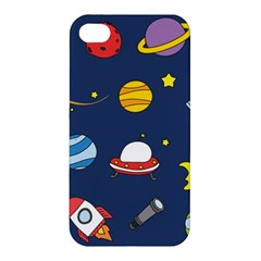 Space Background Design Apple Iphone 4/4s Hardshell Case by Simbadda