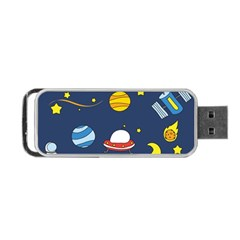Space Background Design Portable Usb Flash (two Sides) by Simbadda