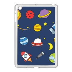 Space Background Design Apple Ipad Mini Case (white) by Simbadda