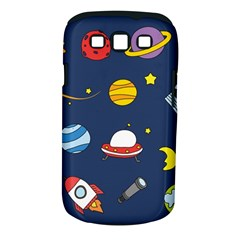 Space Background Design Samsung Galaxy S Iii Classic Hardshell Case (pc+silicone) by Simbadda