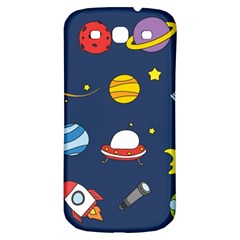 Space Background Design Samsung Galaxy S3 S Iii Classic Hardshell Back Case by Simbadda