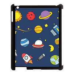 Space Background Design Apple Ipad 3/4 Case (black) by Simbadda