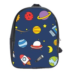 Space Background Design School Bags (xl)  by Simbadda