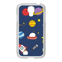 Space Background Design Samsung Galaxy S4 I9500/ I9505 Case (white) by Simbadda