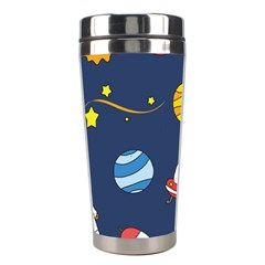 Space Background Design Stainless Steel Travel Tumblers by Simbadda