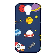 Space Background Design Samsung Galaxy S4 Classic Hardshell Case (pc+silicone) by Simbadda