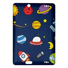 Space Background Design Amazon Kindle Fire Hd (2013) Hardshell Case by Simbadda