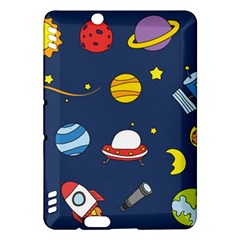 Space Background Design Kindle Fire Hdx Hardshell Case by Simbadda