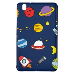 Space Background Design Samsung Galaxy Tab Pro 8 4 Hardshell Case by Simbadda