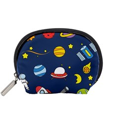 Space Background Design Accessory Pouches (small)  by Simbadda