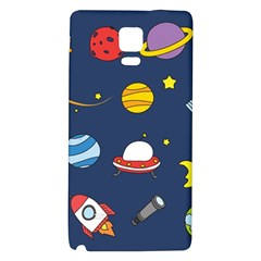 Space Background Design Galaxy Note 4 Back Case by Simbadda