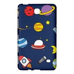 Space Background Design Samsung Galaxy Tab 4 (7 ) Hardshell Case  by Simbadda