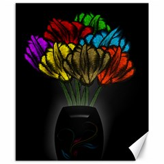 Flowers Painting Still Life Plant Canvas 8  X 10  by Simbadda