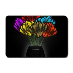 Flowers Painting Still Life Plant Small Doormat  by Simbadda