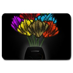 Flowers Painting Still Life Plant Large Doormat  by Simbadda