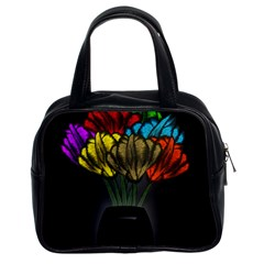 Flowers Painting Still Life Plant Classic Handbags (2 Sides) by Simbadda
