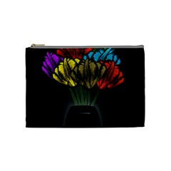 Flowers Painting Still Life Plant Cosmetic Bag (medium)  by Simbadda
