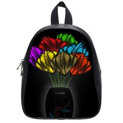 Flowers Painting Still Life Plant School Bags (small)  by Simbadda