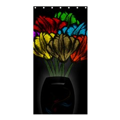 Flowers Painting Still Life Plant Shower Curtain 36  X 72  (stall)  by Simbadda