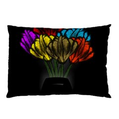 Flowers Painting Still Life Plant Pillow Case (two Sides) by Simbadda