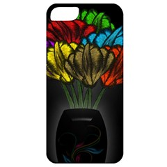 Flowers Painting Still Life Plant Apple Iphone 5 Classic Hardshell Case by Simbadda