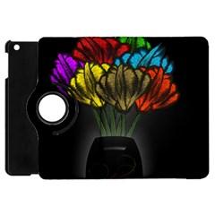 Flowers Painting Still Life Plant Apple Ipad Mini Flip 360 Case by Simbadda