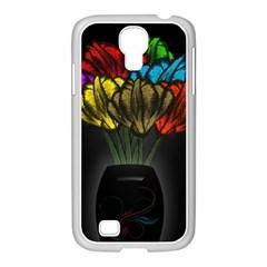 Flowers Painting Still Life Plant Samsung Galaxy S4 I9500/ I9505 Case (white) by Simbadda