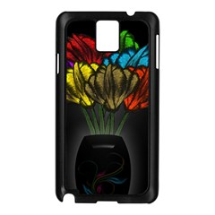 Flowers Painting Still Life Plant Samsung Galaxy Note 3 N9005 Case (black) by Simbadda