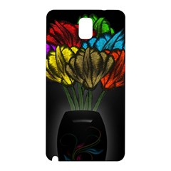 Flowers Painting Still Life Plant Samsung Galaxy Note 3 N9005 Hardshell Back Case by Simbadda