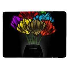 Flowers Painting Still Life Plant Samsung Galaxy Tab Pro 12 2  Flip Case by Simbadda