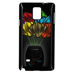 Flowers Painting Still Life Plant Samsung Galaxy Note 4 Case (black) by Simbadda