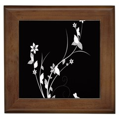 Plant Flora Flowers Composition Framed Tiles by Simbadda