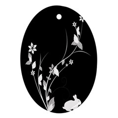 Plant Flora Flowers Composition Ornament (oval) by Simbadda