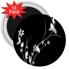 Plant Flora Flowers Composition 3  Magnets (10 Pack)  by Simbadda