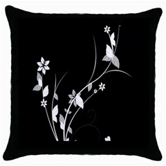 Plant Flora Flowers Composition Throw Pillow Case (black) by Simbadda