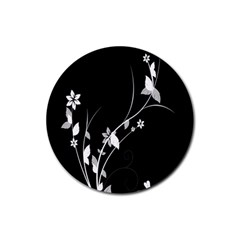 Plant Flora Flowers Composition Rubber Coaster (round)  by Simbadda