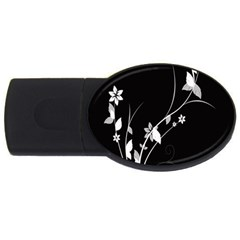 Plant Flora Flowers Composition Usb Flash Drive Oval (2 Gb) by Simbadda