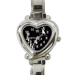 Plant Flora Flowers Composition Heart Italian Charm Watch by Simbadda