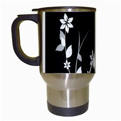 Plant Flora Flowers Composition Travel Mugs (white)