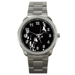 Plant Flora Flowers Composition Sport Metal Watch by Simbadda