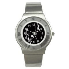 Plant Flora Flowers Composition Stainless Steel Watch by Simbadda